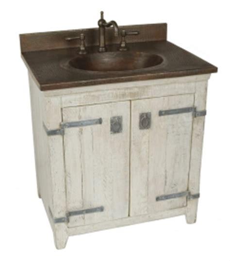 30 inch single sink bath vanity with antique copper top
