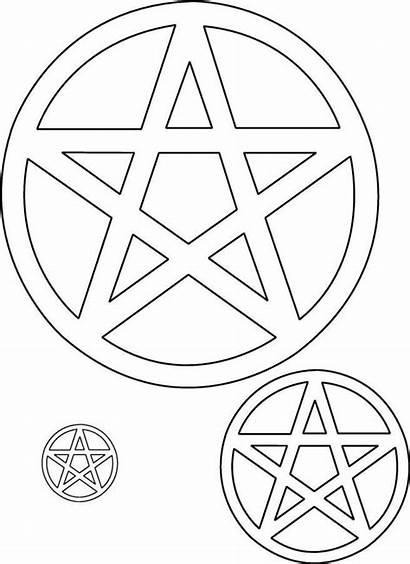 Symbols Pentagram Pagan Coloring Witch Tattoo Patterns