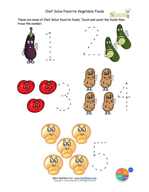 preschool writing activity trace the vegetable foods 638 | preview en large