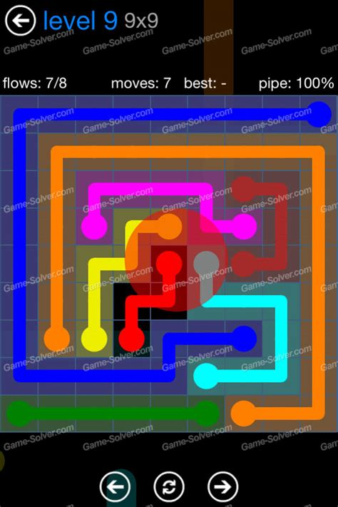 Flow Bonus Pack 9×9 Level 9  Game Solver