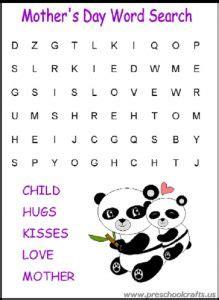 printable mothers day worksheets  kids