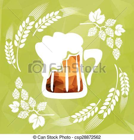 foto de Birra luppolo Stilizzato fondo birra verde speranza
