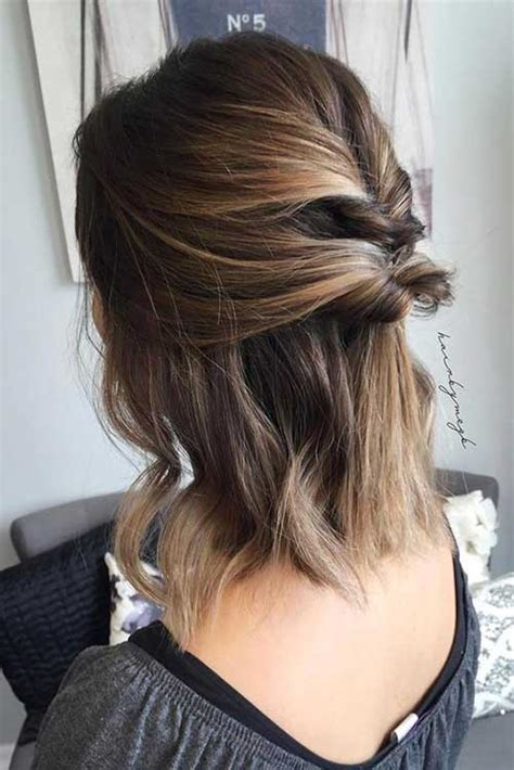 easy short updo hairstyles  special  short