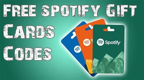 spotify gift card codes  images gift card