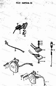 Suzuki Motorcycle 1973 Oem Parts Diagram For Electrical