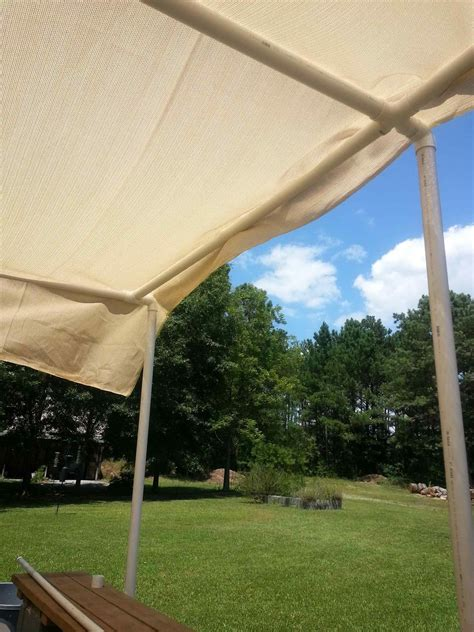 easy  diy pvc pipe sun shade ideas sofa cope