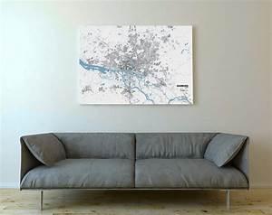 Dreiteilige Bilder Auf Leinwand : schwarzplan von hamburg gedruckt auf leinwand ~ Orissabook.com Haus und Dekorationen