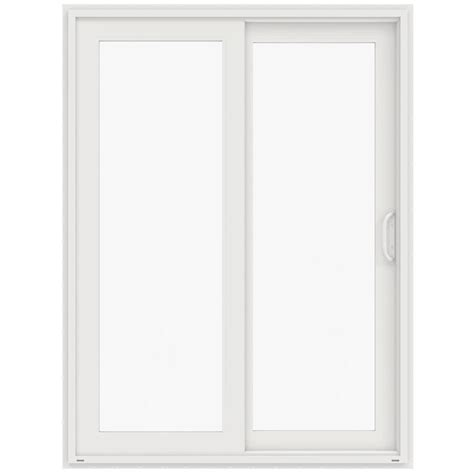 jeld wen 60 in x 80 in v 4500 white prehung left