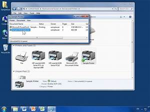 Windows 7 change the printing priority of documents for Documents waiting to print