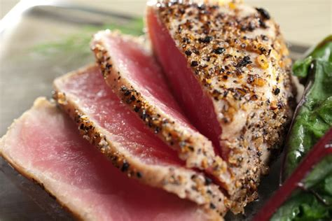 ahi tuna   taste temptation  rare  fully