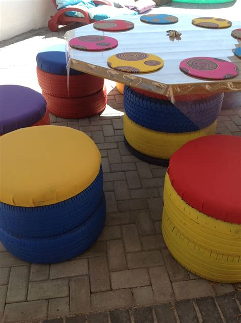 outdoor furniture    tyres  table top