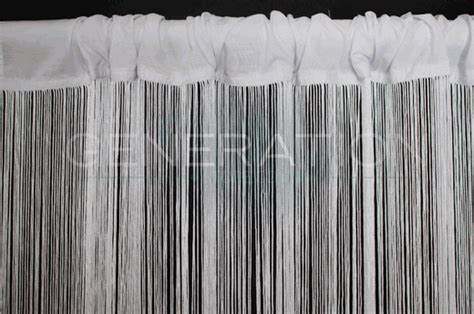 White String Curtains (fringe Curtains) 3'x12