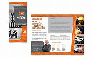 Microsoft Word Trifold Manufacturing Engineering Tri Fold Brochure Template