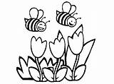 Bee Coloring Bumble Bees Pages Honey Colouring Hive Bumblebee Flower Cartoon Pot Printable Template Drawing Flowers Sheets Clipart Transformers Getcolorings sketch template