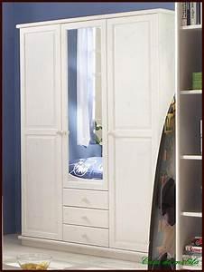 KLEIDERSCHRANK Wsche Schlafzimmer Schrank Spiegel Holz