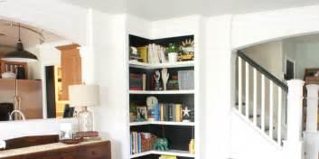 Build Corner Bookcase by Build Your Own Corner Bookshelves