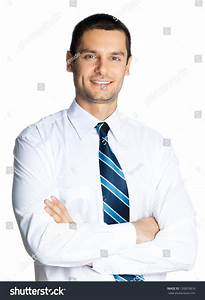 Portrait Young Happy Smiling Business Man Stock Photo ...