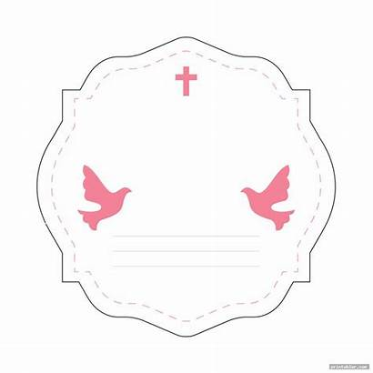 Baptism Tags Printable Favor Template Printabler Gridgit