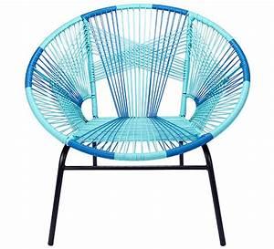 Fauteuil Fil Plastique : fauteuil de jardin tulum fil bleu 169 salon d 39 t ~ Edinachiropracticcenter.com Idées de Décoration