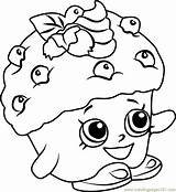Coloring Muffin Shopkins Mini Pages Printable Coloringpages101 Getdrawings Getcolorings Pdf sketch template