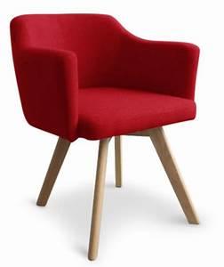 Chaise Scandinave Rouge : fauteuil scandinave tissu rouge kanty ~ Teatrodelosmanantiales.com Idées de Décoration