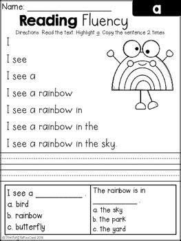 Free Reading Fluency And Comprehension (set 1)  Kindergarten  Pinterest  Reading Fluency
