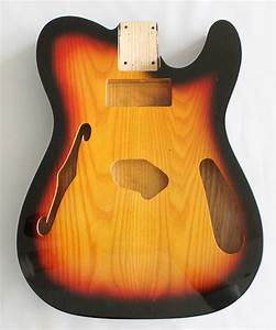 Tele Thinline Style Hollow Guitar Body American Ash Wood