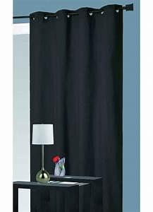 Rideau Rouge Et Noir : rideau isolant thermique noir p trole perle rouge taupe lin gris ecru ~ Melissatoandfro.com Idées de Décoration