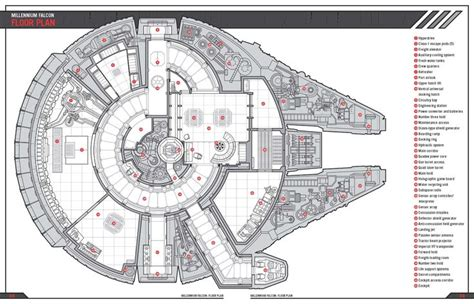 millennium deck 3 plan millennium falcon falcons and floor plans on