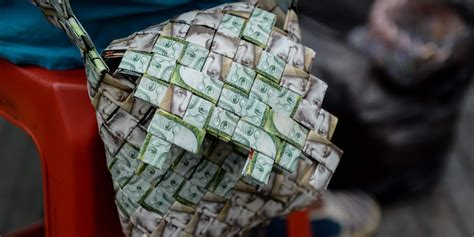 venezuelas currency   worthless people  making woven goods   indy