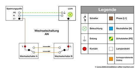 wechselschalteran wechselschalter elektroinstallation