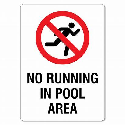 Running Pool Area Sign Nz Signs Safety