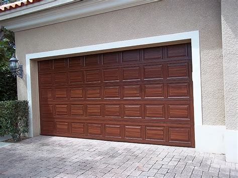 How To Paint A Metal Garage Door by You Can Paint Your Garage Door To Look Like Wood