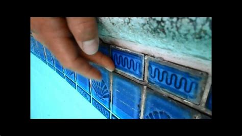 temporary pool tile repaira quick fix youtube