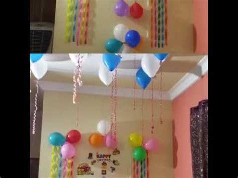 birthday decoration ideas  home youtube