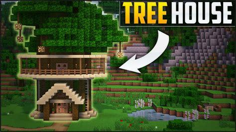 minecraft   build  tree house tutorial easy youtube