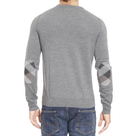mens burberry sweater burberry sweater in gray for lyst