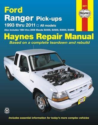 old cars and repair manuals free 1993 ford mustang instrument cluster ford ranger repair manual includes mazda pickups 1993 2011 haynes