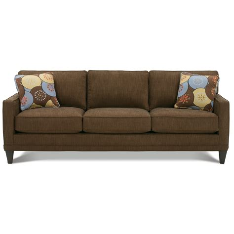 rowe townsend customizable fabric sofa with track arms