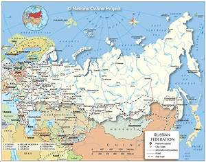 Russia Map And Surrounding Countries