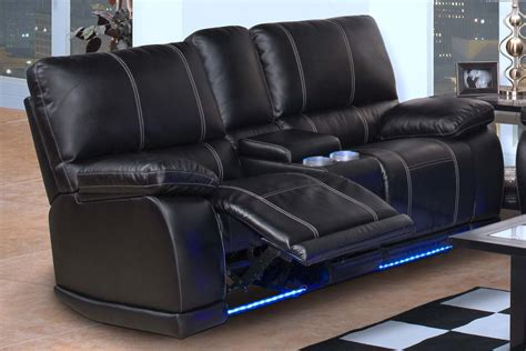 double recliner sofa with console nottingham black dual recliner console loveseat for 769