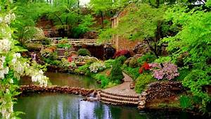 Beautiful Botanical Garden View Wallpaper ...