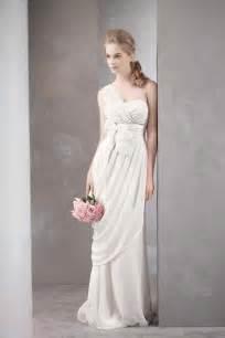 grecian wedding dress aisle style grecian style wedding gowns paperblog