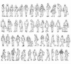 15 Vector People Outline Images - Business People ...