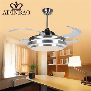 Brief ceiling fan light with acrylic blade for small