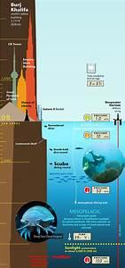 Infographic  Mountain Elevation  U0026 Ocean Depth