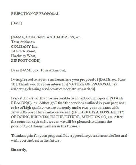 regret letter  unable  quote confidencecom