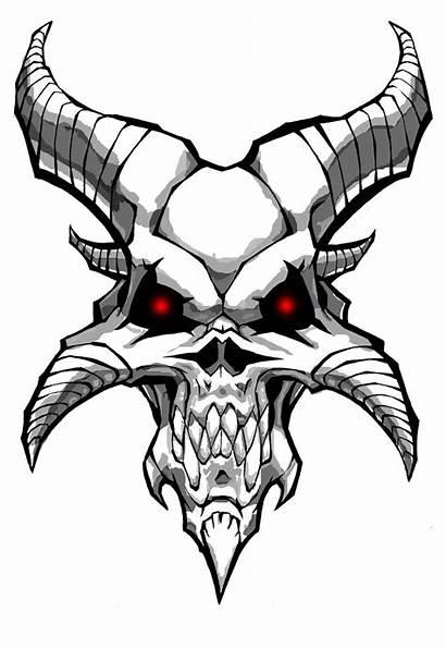 Horns Devil Drawing Skull Demon Getdrawings