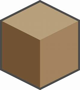 Clipart - Brown sugar cube