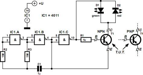 Cheap Cheerful Transistor Tester Circuit Diagram